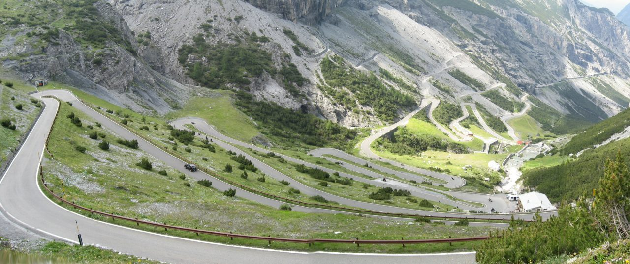 Mountains Nature Valley Italy Roads Stelvio Pass Desktop 4351x1830 Hd Wallpaper 818639